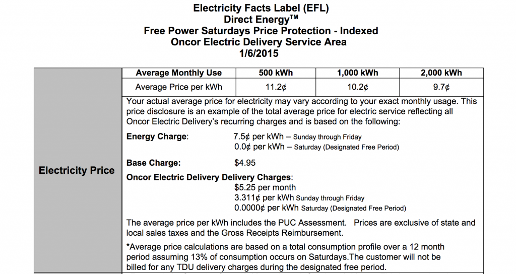 What is an Electricity Facts Label (EFL) and Why Does it Matter?